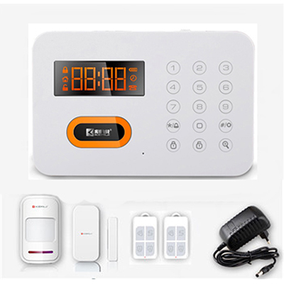 Touch Keyboard Intelligent PSTN Burglar Alarm System