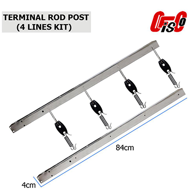 Terminal Rod Post 4 Lines Kit